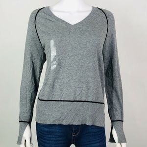 AX Armani Exchange Size XL Sweater Pipping Gray